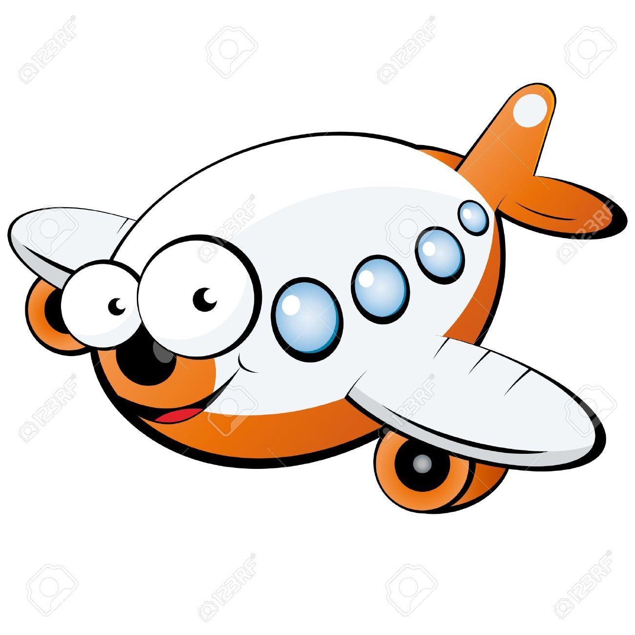 Funny Plane Clipart.
