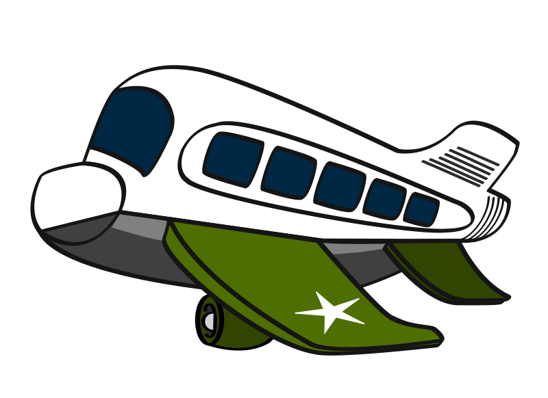 Free Clipart: Funny military airplane.