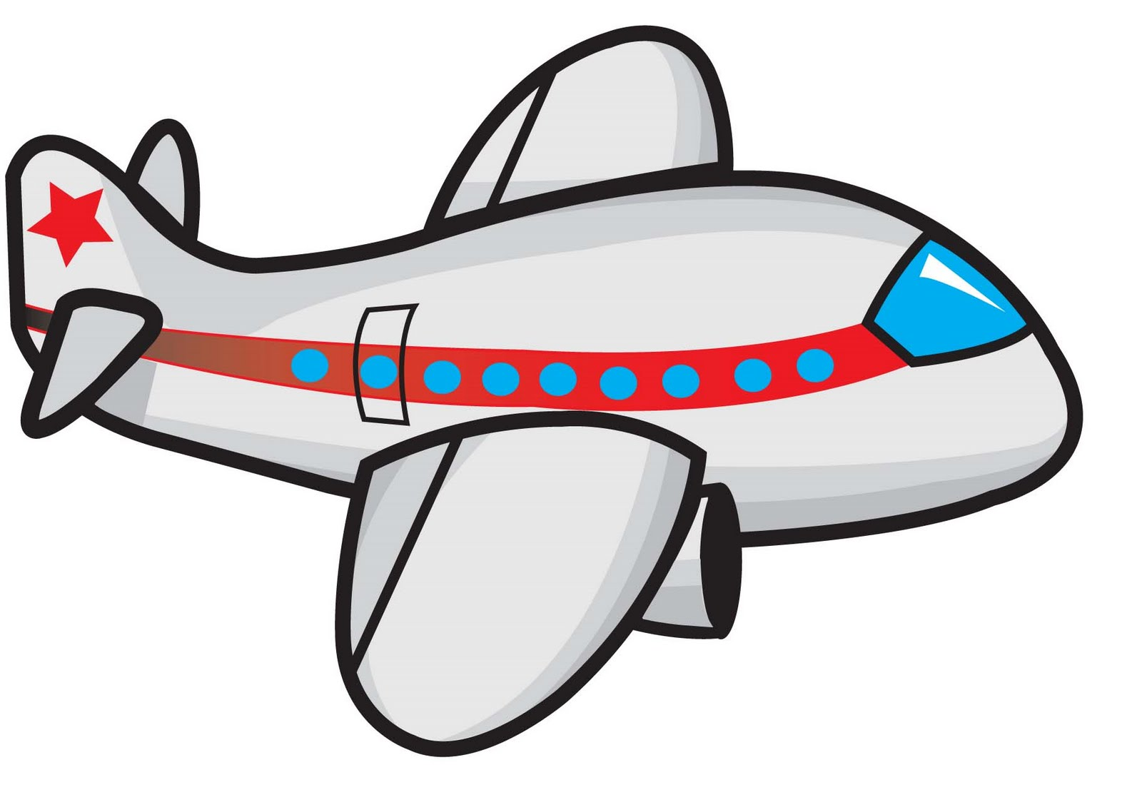 Funny Airplane Clipart.