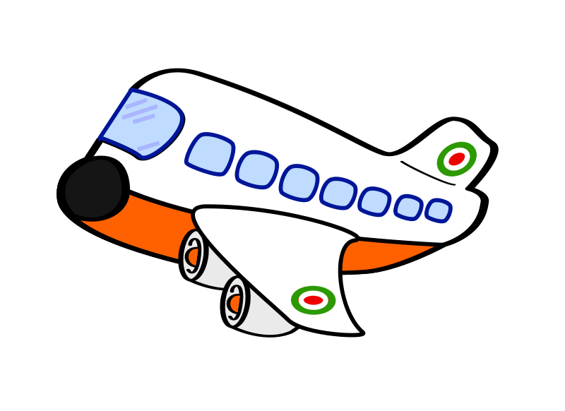 Free Clipart: Funny airplane one.