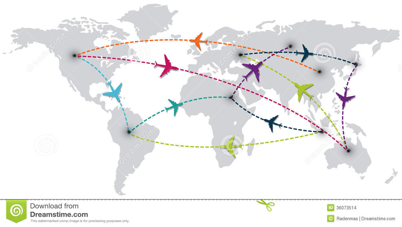 Travel Map Clipart.