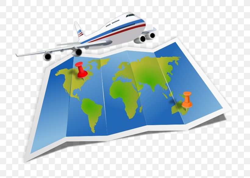 Globe Air Travel Map Clip Art, PNG, 800x586px, Globe, Air.