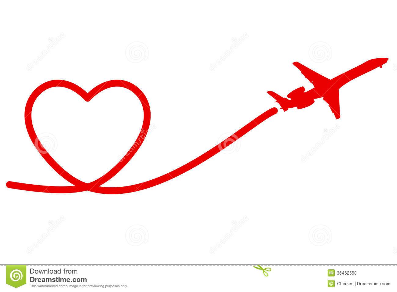Valentine Airplane Clipart.