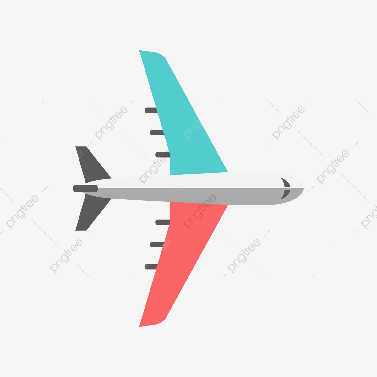 Blue And Red Airplane Vector Clipart, Blue, Red, Airplane PNG and.