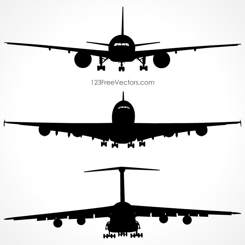 Plane clipart front.