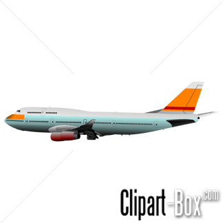 CLIPART BOEING 747 SIDE VIEW.