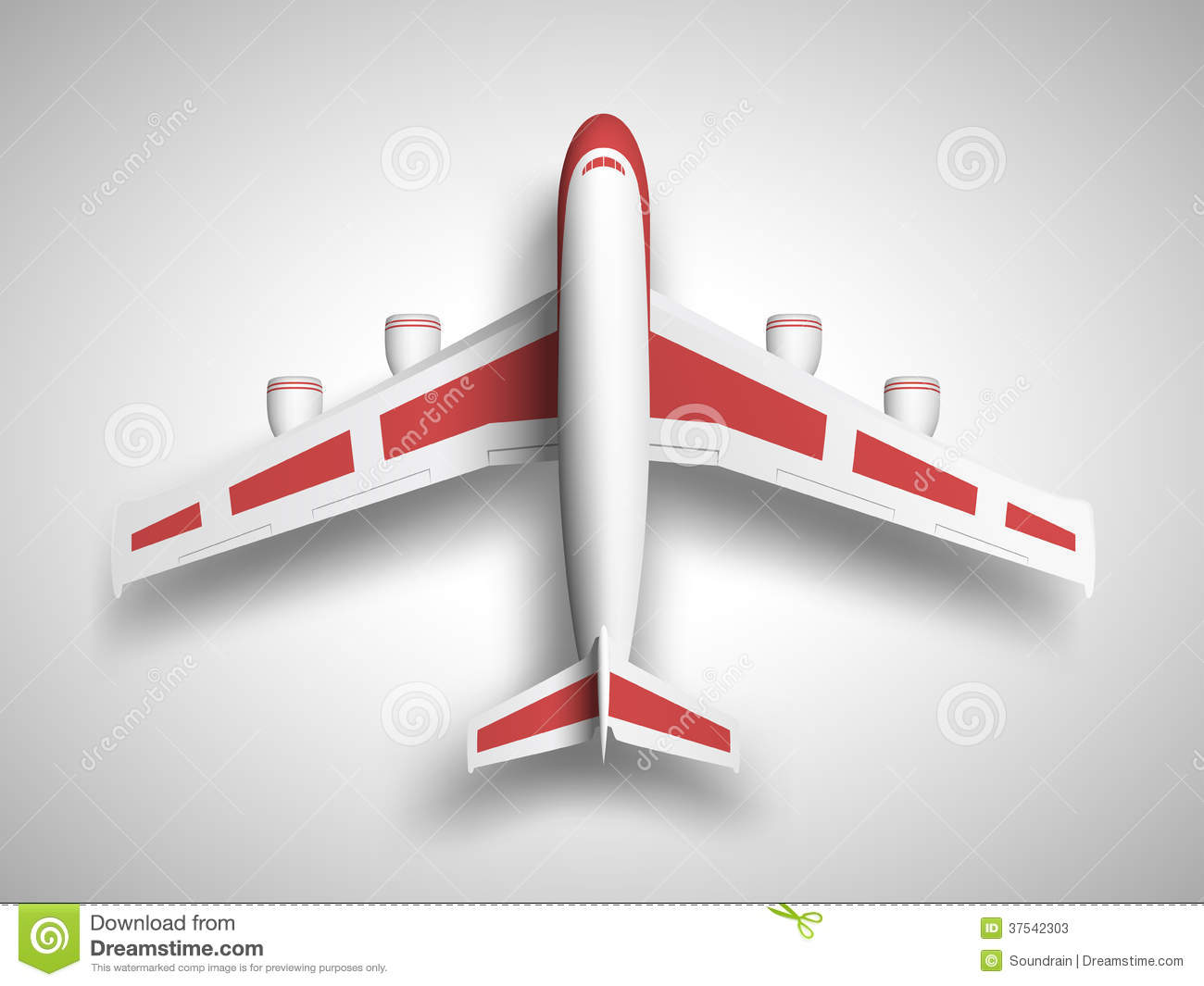 Clipart airplane top.