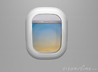 Porthole Airplane Window Stock Illustrations.