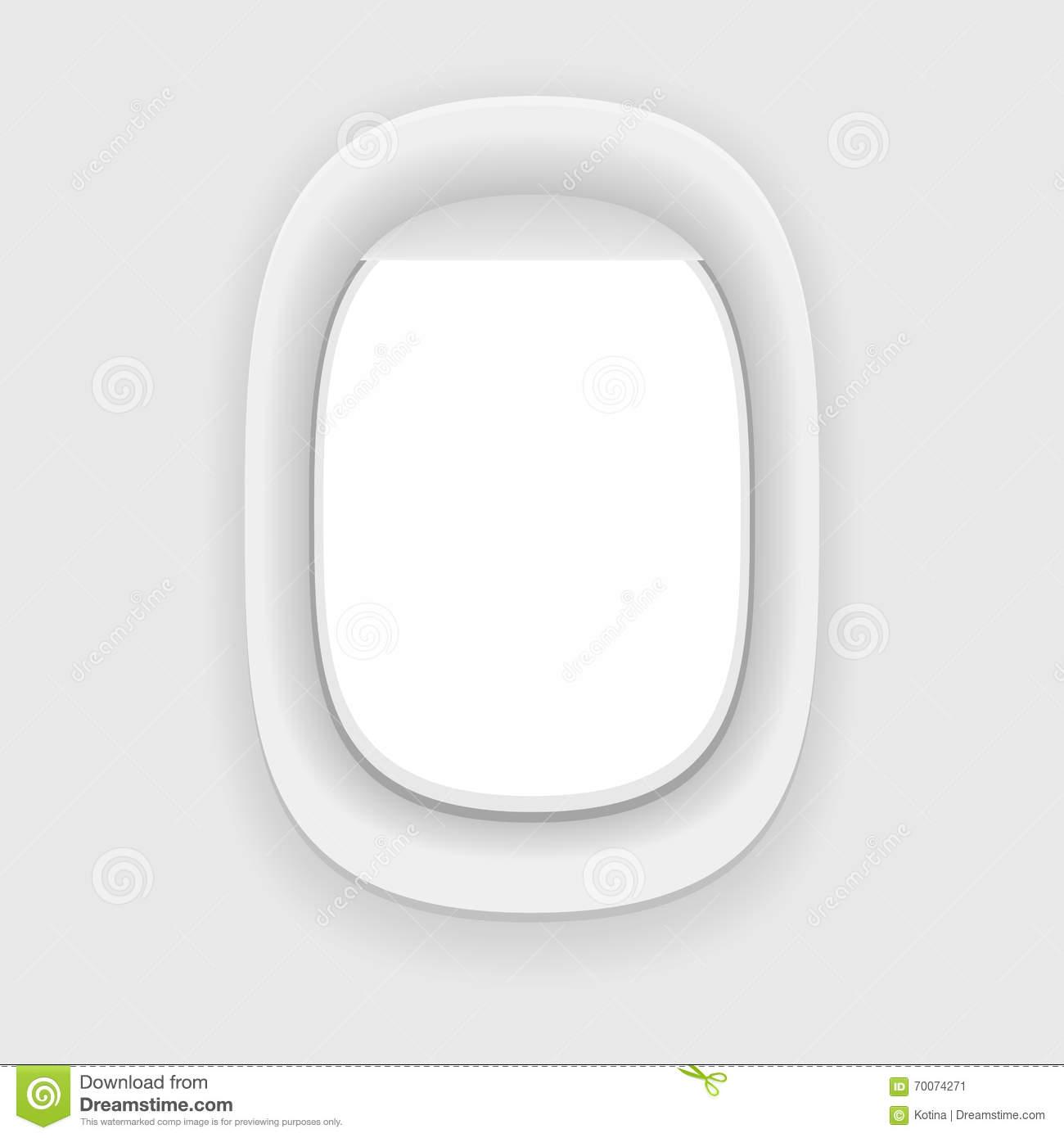 Aircraft Window. Plane Porthole Isolated. Stock Illustration.
