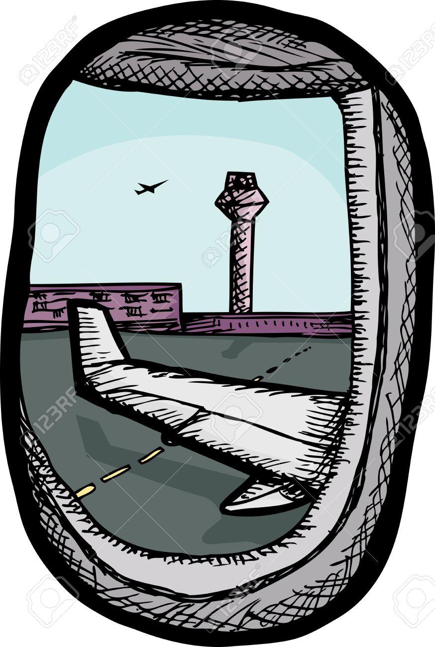 Airplane window clipart #8