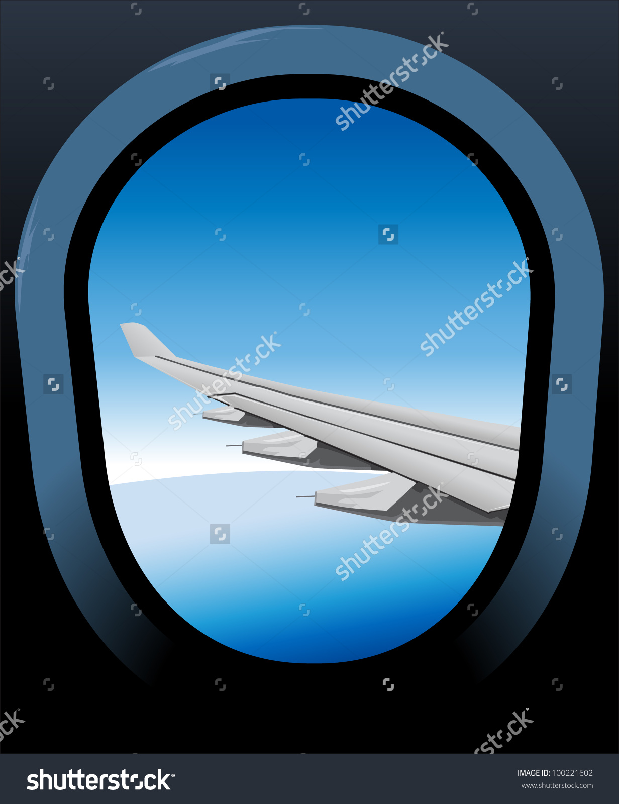 Airplane window clipart #14