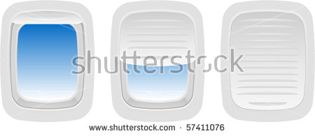 Airplane window clipart #12