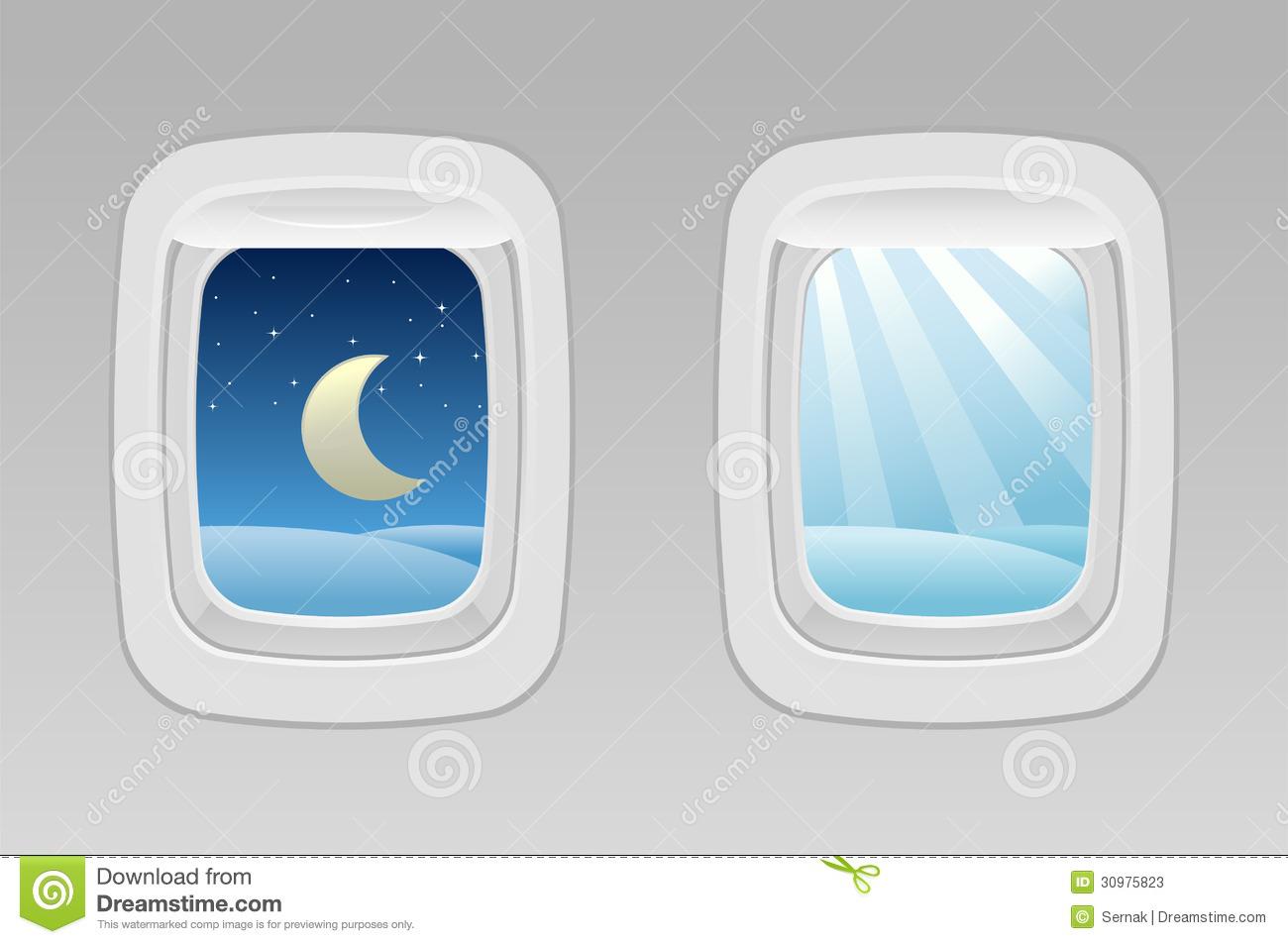 Airplane window clipart #20