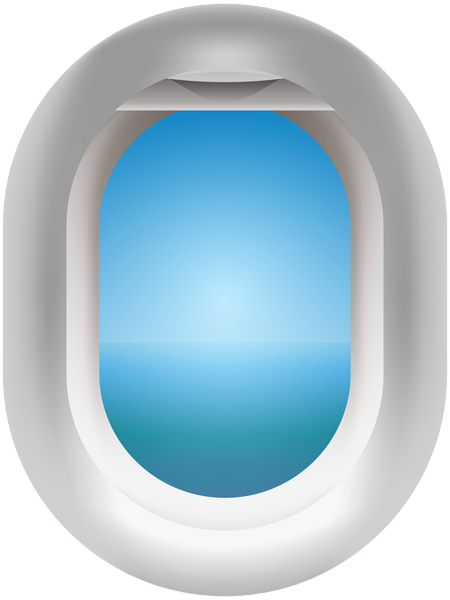 Airplane Window PNG Clip Art Image.