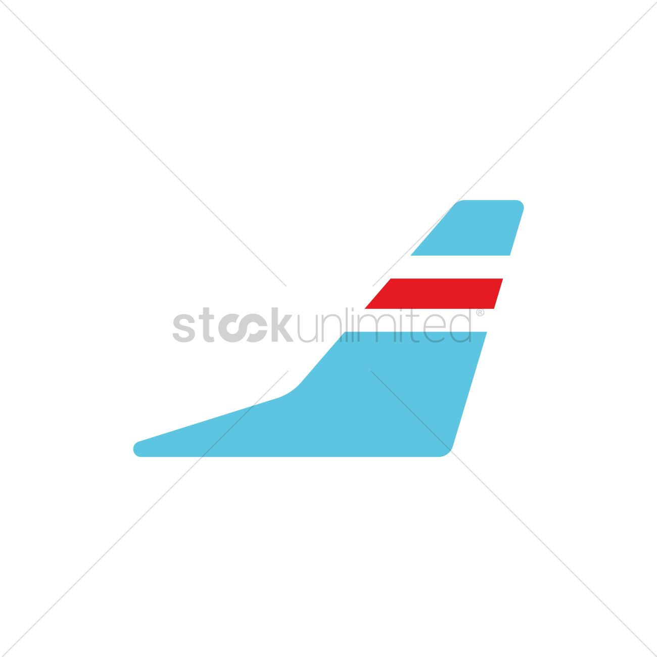 Airplane wing Vector Image.