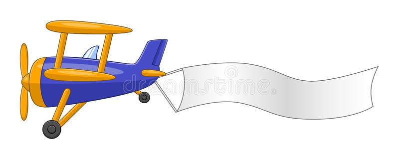 Cartoon Airplane Banner Stock Illustrations.