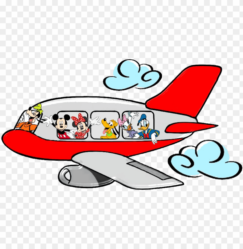 mickey mouse airplane clipart.