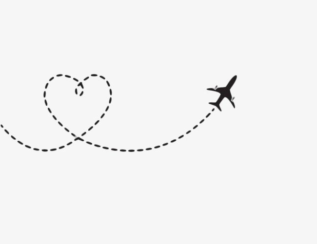 Heart Shaped Airplane Route.