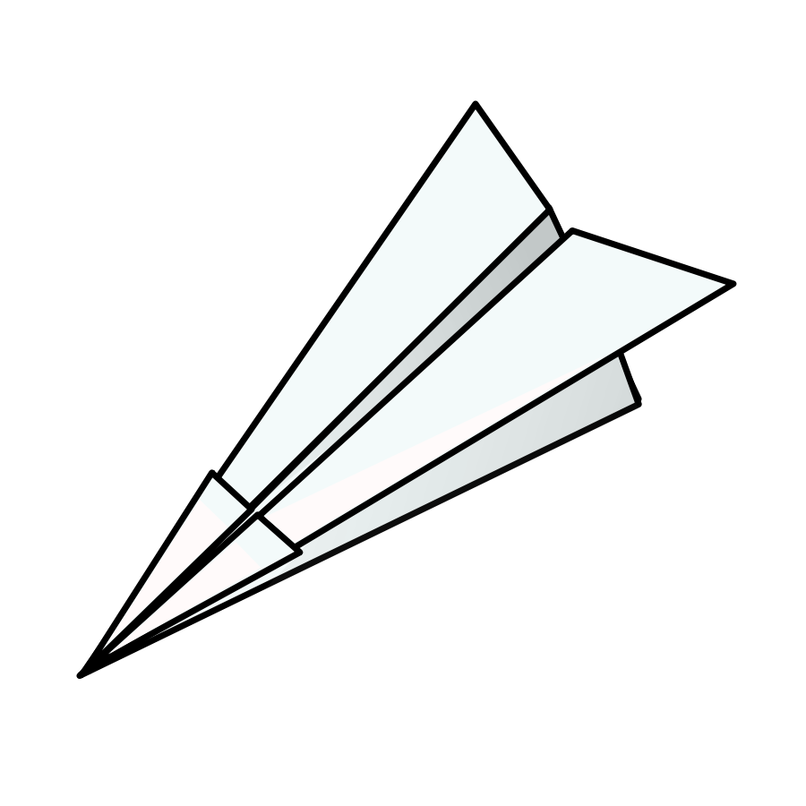 Paper Airplane Race Clipart.