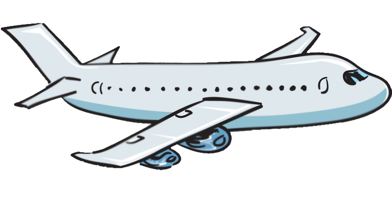 Cartoon airplanes clipart.