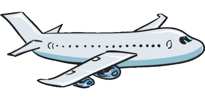 Cartoon airplanes clipart.