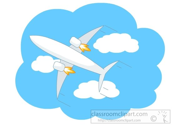 Airplane Clouds Clipart.
