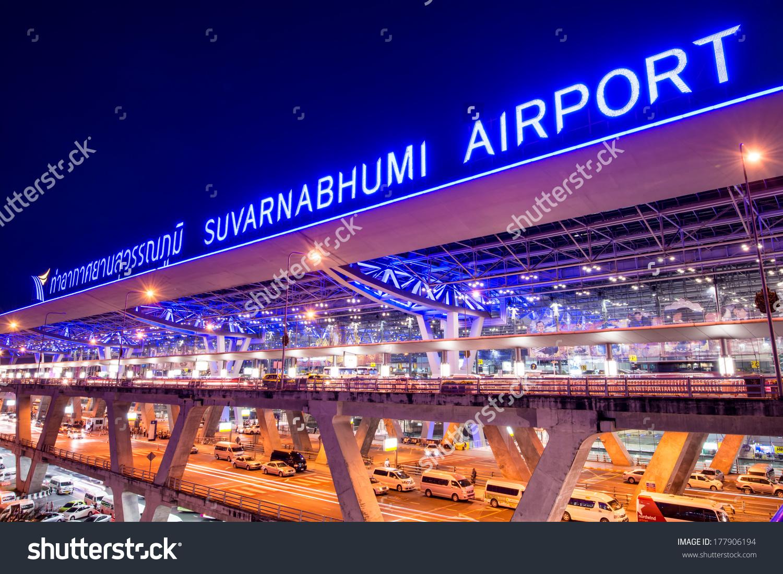 Bangkoknovember 30 Suvarnabhumi Airport Night On Stock Photo.