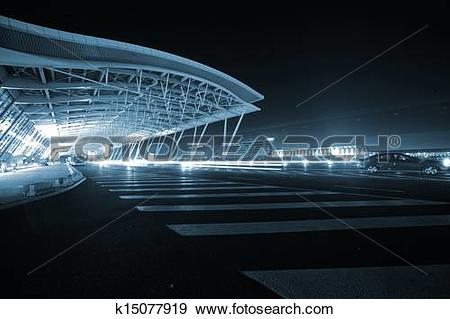 Stock Photograph of Shanghai Airport Night k15077919.