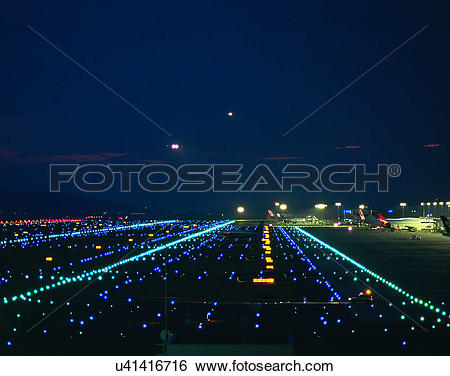 Stock Images of outdoors, night time, lights, sky, evening.