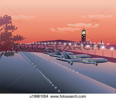 Drawings of Airport at Night u19961004.