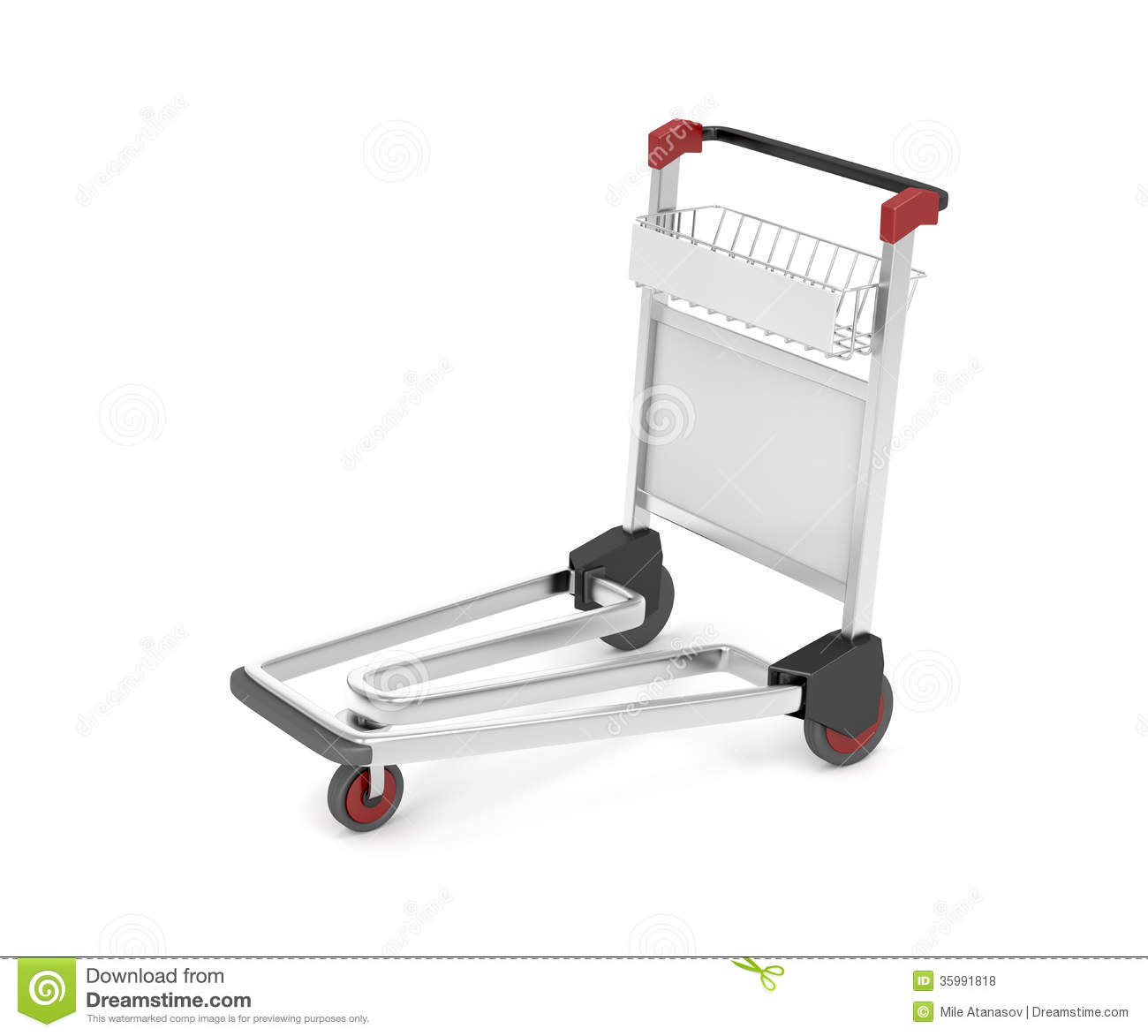 Airport Trolley Clipart.