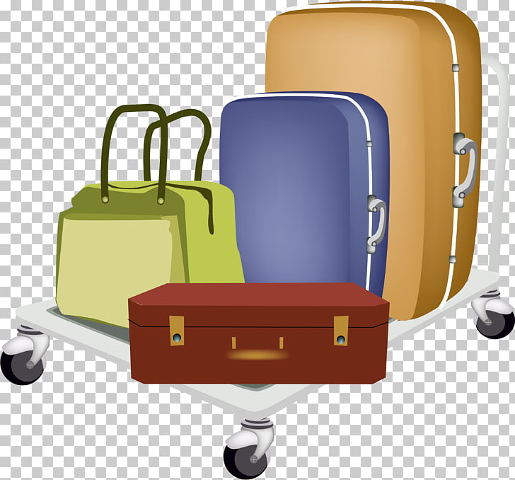 Baggage cart Travel Suitcase Hand luggage, Suitcase PNG.