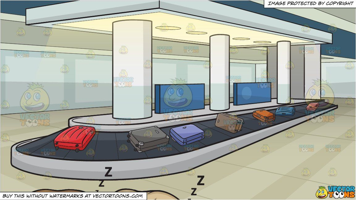 clipart #cartoon Let Sleeping Dogs Lie and An Airport.