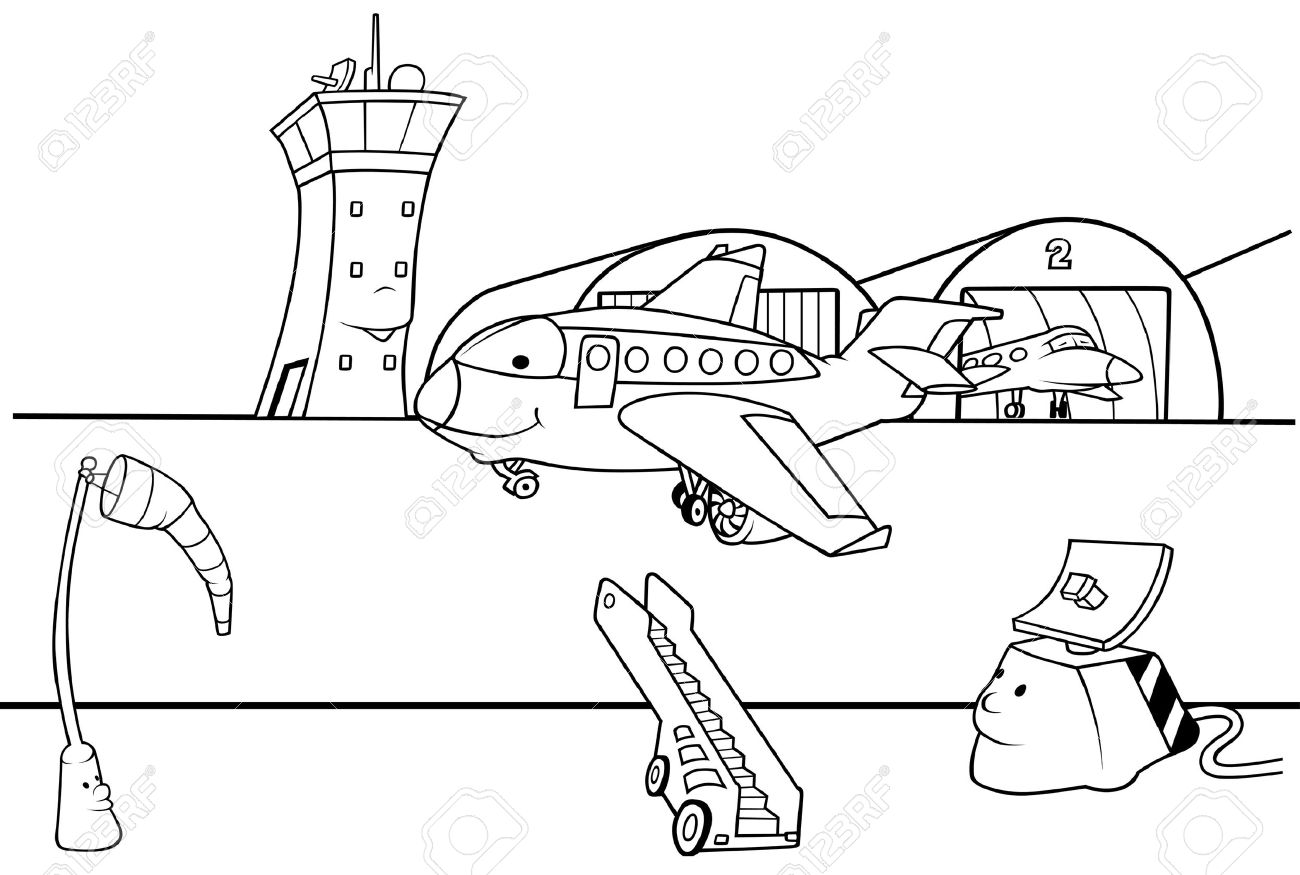 Airport clipart black and white 2 » Clipart Station.