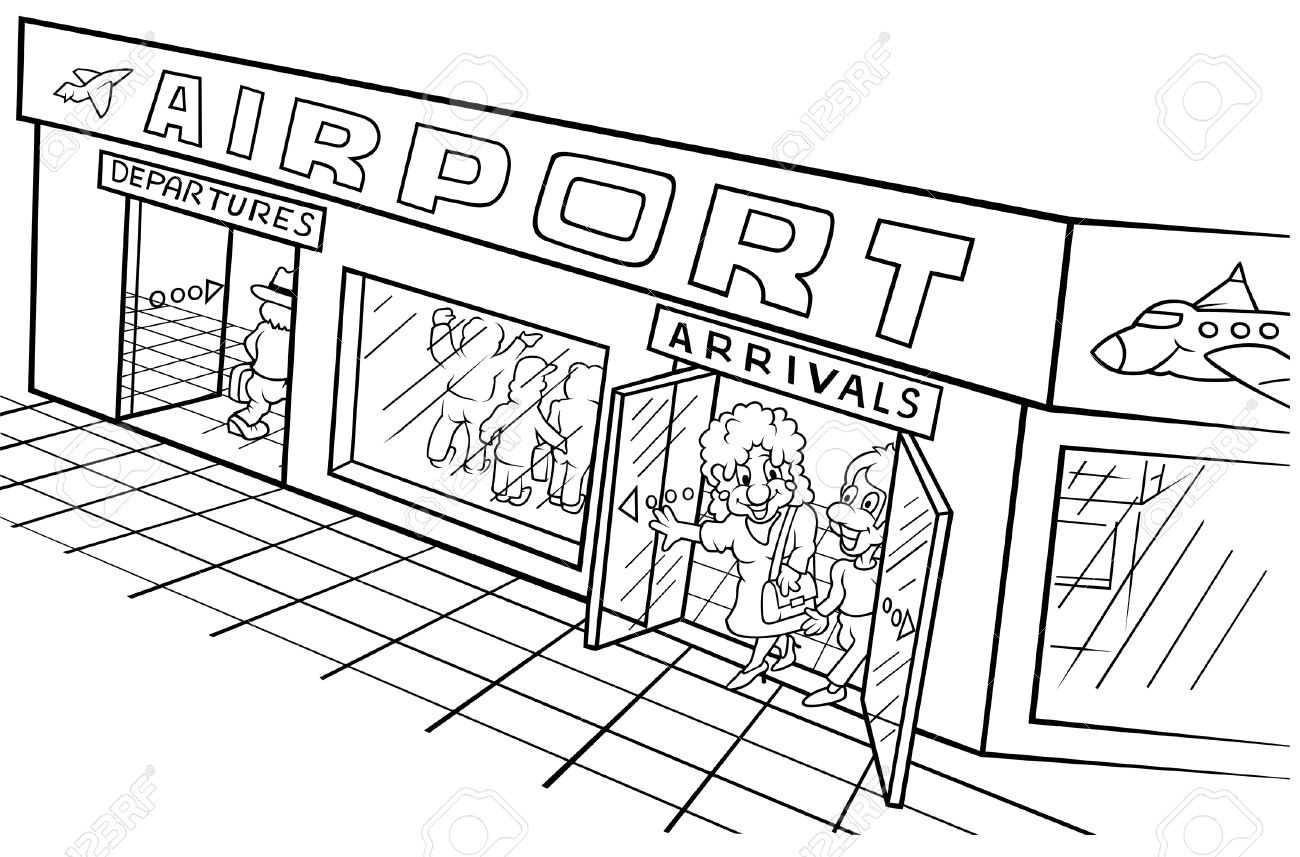 Airport clipart black and white 1 » Clipart Station.