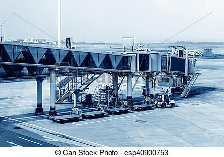 Stock Images of Airport boarding bridge.