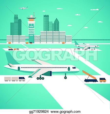 Jet Bridge Clip Art.