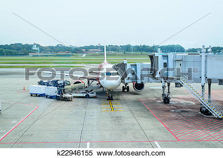 Stock Image of Jet bridge from an airport terminal gate k22946155.