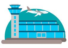 Airport building Royalty Free Stock Photos.