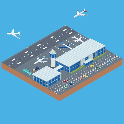 airport building Clipart Image.