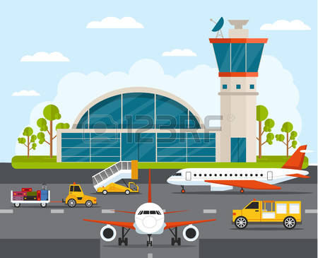 55,854 Airport Stock Vector Illustration And Royalty Free Airport.