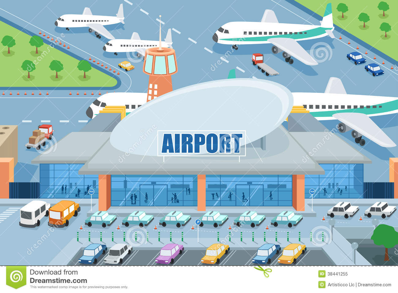 Airport Clipart Free.