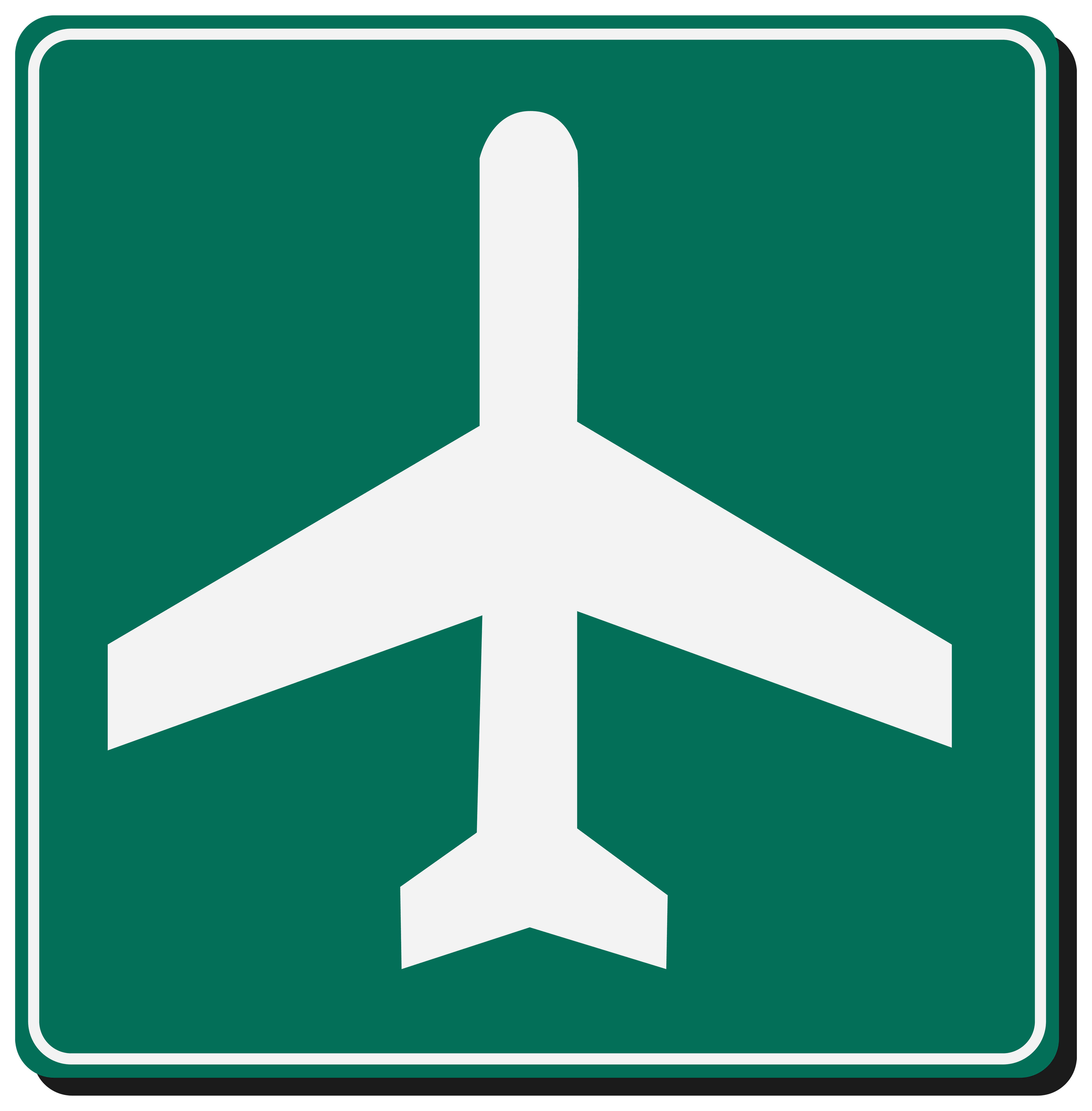 Airport Sign PNG Clipart.