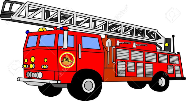 1484 Fire Truck free clipart.