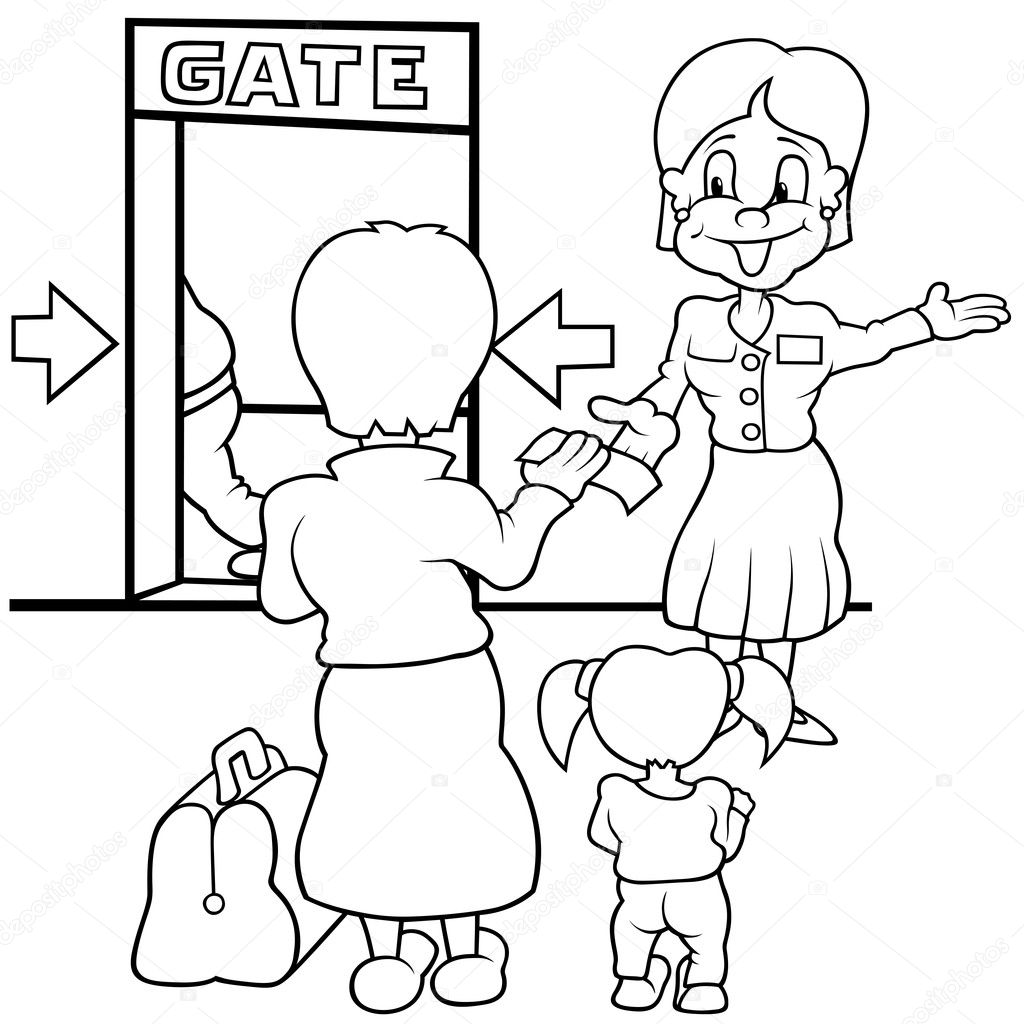 Clipart: airport black and white.