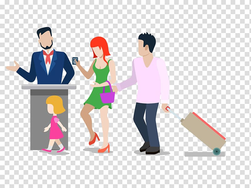 Travel Vacation Cartoon , airport ticket gate material transparent.