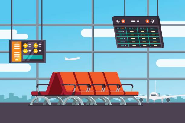 Best Airport Lounge Illustrations, Royalty.