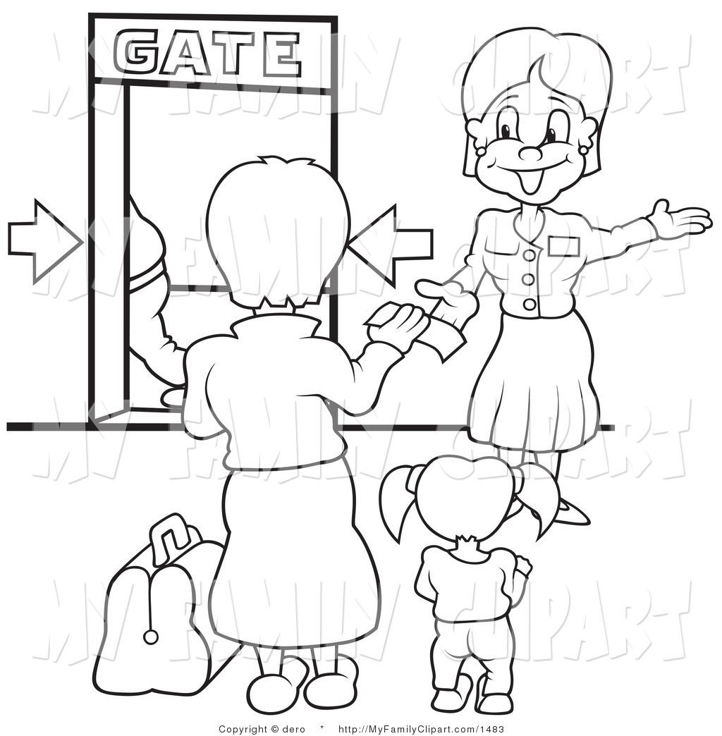 Airport Gate Clipart.