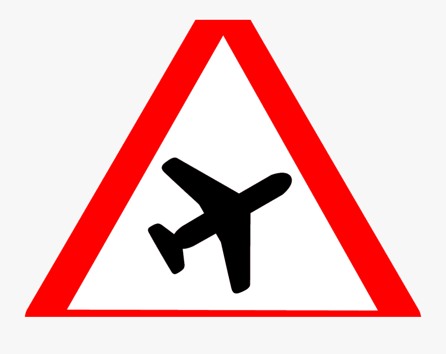 Road Sign Low Flying Aircraft , Free Transparent Clipart.