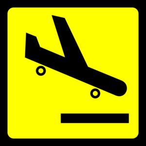 Airport Arrival Logo Yellow Clip Art at Clker.com.